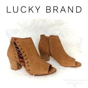Lucky Brand Hartlee Peep Toe Booties